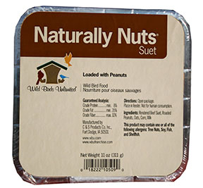 Naturally Nuts suet cake